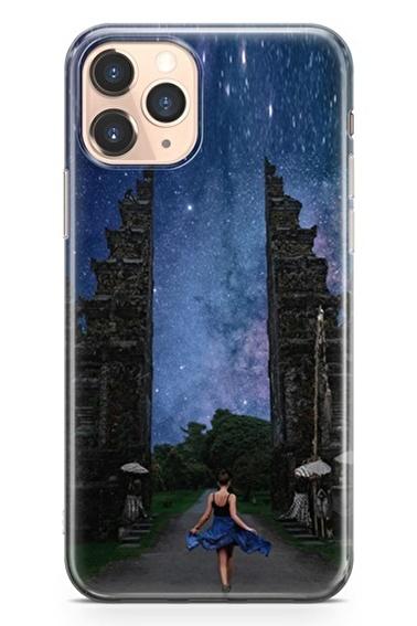 Lopard İphone 11 Pro Kılıf Silikon Arka Kapak Koruyucu Özgürlük Yolu Desenli Full HD Baskılı Renkli